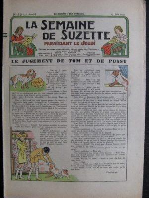 La Semaine de Suzette 33e année n°29 (17/06/1937) – Le jugement de Tom et de Pussy (Bleuette)