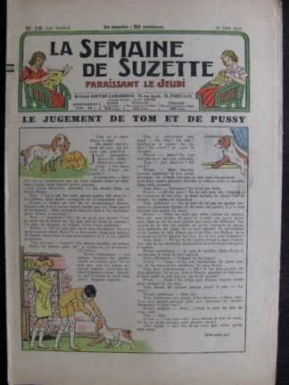 La Semaine de Suzette 33e année n°29 (17/06/1937) - Le jugement de Tom et de Pussy (Bleuette)