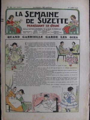 La Semaine de Suzette 33e année n°31 (1/07/1937) – Quand Gabrielle garde les oies (Bleuette)