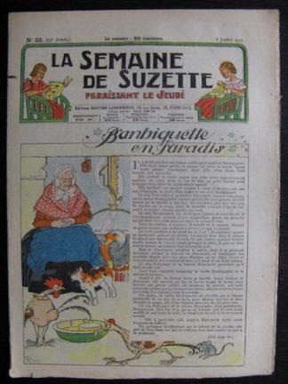 La Semaine de Suzette 33e année n°32 (8/07/1937) - Banbiquette en paradis