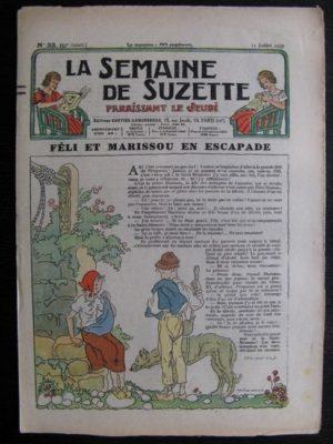 La Semaine de Suzette 33e année n°33 (15/07/1937) – Féli et Marissou en escapade (Bleuette)