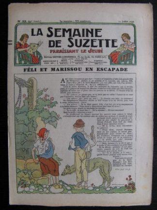 La Semaine de Suzette 33e année n°33 (15/07/1937) - Féli et Marissou en escapade (Bleuette)