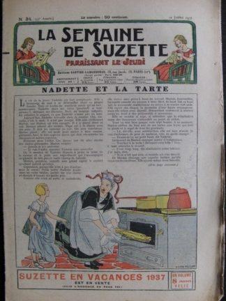 La Semaine de Suzette 33e année n°34 (22/07/1937) - Nadette et la tarte