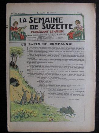 La Semaine de Suzette 33e année n°37 (12/08/1937) - Un lapin de compagnie (Bleuette)