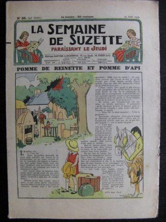 La Semaine de Suzette 33e année n°38 (19/08/1937) - Pomme de reinette et pomme d'api
