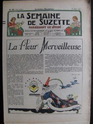 La Semaine de Suzette 33e année n°39 (26/08/1937) – La fleur merveilleuse (Bleuette)