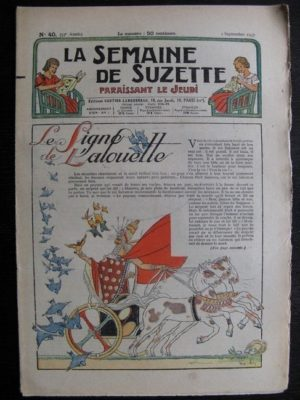 La Semaine de Suzette 33e année n°40 (2/09/1937) – La ligne de l'alouette