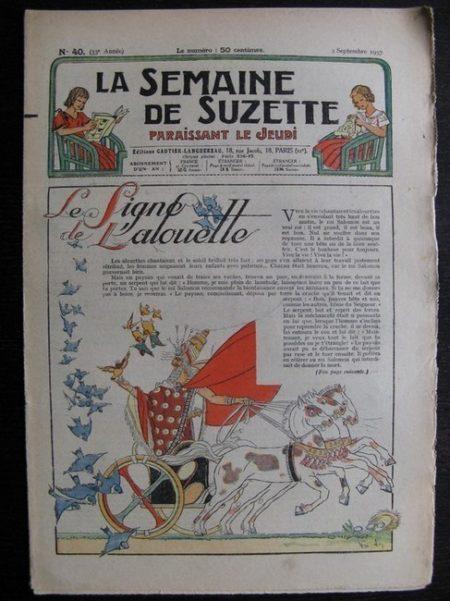 La Semaine de Suzette 33e année n°40 (2/09/1937) - La ligne de l'alouette
