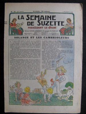 La Semaine de Suzette 33e année n°41 (9/09/1937) – Solange et les cambrioleurs (Bleuette)