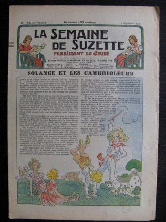 La Semaine de Suzette 33e année n°41 (9/09/1937) - Solange et les cambrioleurs (Bleuette)