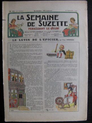 La Semaine de Suzette 33e année n°42 (16/09/1937) - Le lutin de l'épicier
