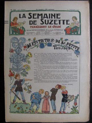 La Semaine de Suzette 33e année n°43 (23/09/1937) - Le protecteur de la petite Tiphaine