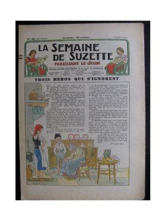 La Semaine de Suzette 33e année n°45 (7/10/1937) - Trois héros qui s'ignorent