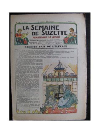 La Semaine de Suzette 33e année n°46 (14/10/1937) - Nadette fait de l'élevage