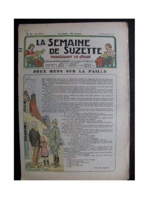 La Semaine de Suzette 33e année n°51 (18/11/1937) – Deux œufs sur la paille (Bleuette – Tablier de classe)