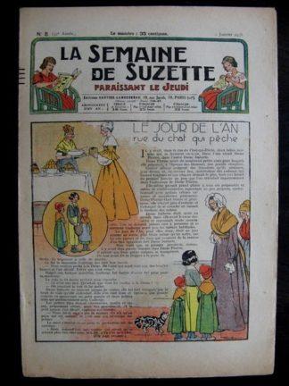 La Semaine de Suzette 32e année n°5 (2/01/1936) - Le jour de l'An rue du chat qui pêche