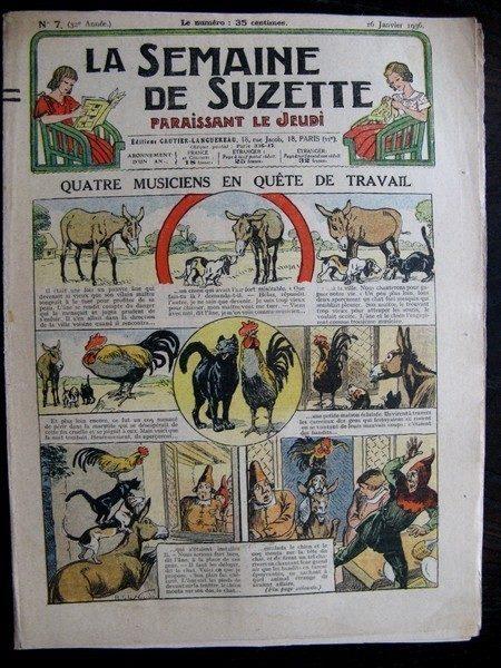 La Semaine de Suzette 32e année n°7 (16/01/1936) - Quatre musiciens en quête de travail