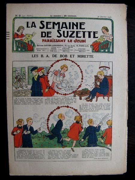 La Semaine de Suzette 32e année n°9 (30/01/1936) - Les B.A. de Bob et Mirette