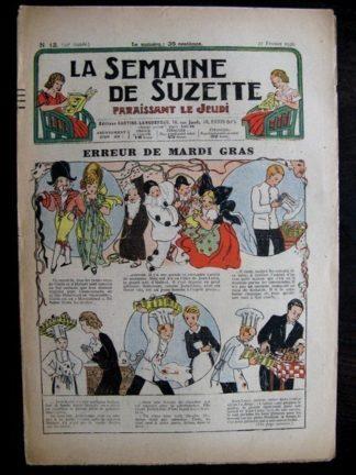 La Semaine de Suzette 32e année n°13 (27/02/1936) - Erreur de mardi gras