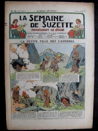 La Semaine de Suzette 32e année n°15 (12/03/1936) - La petite fille des cavernes