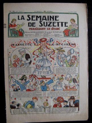 La Semaine de Suzette 32e année n°16 (19/03/1936) - Jeannette et le mi-carême