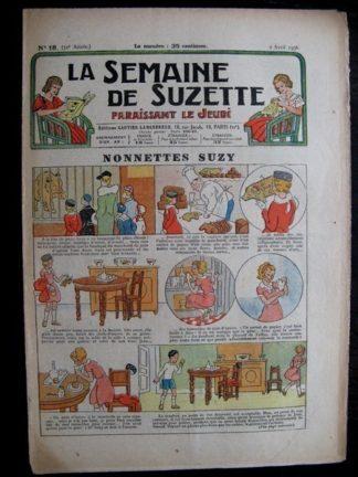 La Semaine de Suzette 32e année n°18 (2/04/1936) - Nonnettes Suzy