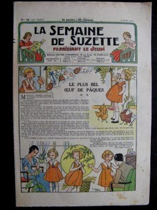 La Semaine de Suzette 32e année n°19 (9/04/1936) - Le plus bel œuf de Pâques
