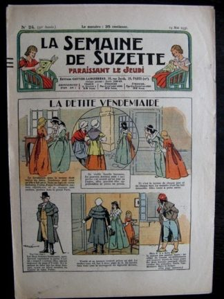 La Semaine de Suzette 32e année n°24 (14/05/1936) - La petite vendemiaire