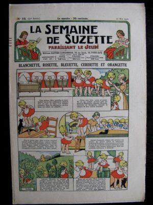 La Semaine de Suzette 32e année n°25 (21/05/1936) – Blanchette Rosette Bleuette Cerisette et Orangette