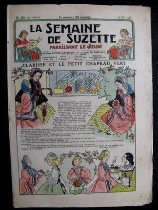 La Semaine de Suzette 32e année n°30 (25/06/1936) - Clarisse et le petit chapeau vert