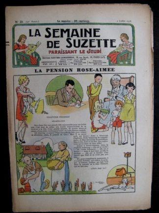 La Semaine de Suzette 32e année n°31 (2/07/1936) - La pension Rose-Aimée