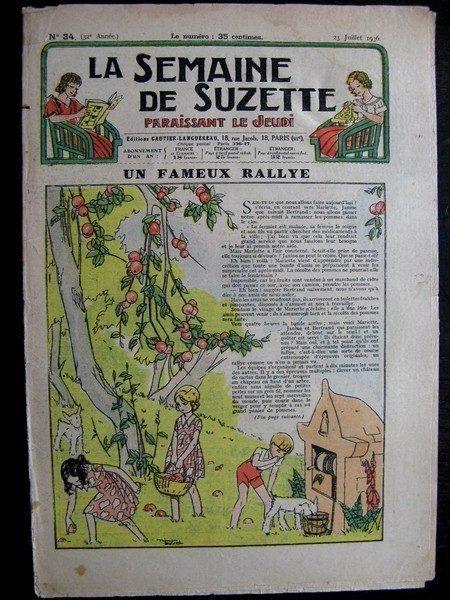 La Semaine de Suzette 32e année n°34 (23/07/1936) - Un fameux rallye