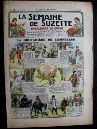 La Semaine de Suzette 32e année n°35 (30/07/1936) - La grenadière de l'empereur