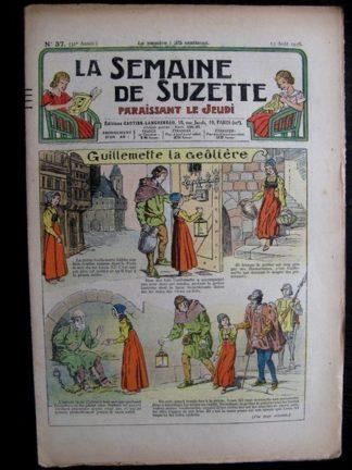 La Semaine de Suzette 32e année n°37 (13/08/1936) - Guillemette la geôlière
