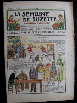 La Semaine de Suzette 32e année n°39 (27/08/1936) - Nane au pays de l'aventure