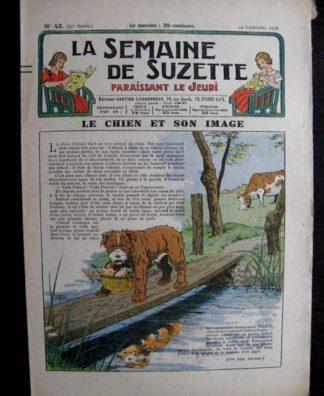 La Semaine de Suzette 32e année n°43 (24/09/1936) - Le chien et son image