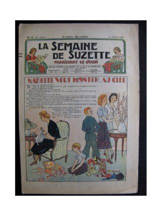 La Semaine de Suzette 34e année n°9 (1938) - Nadette veut monter au ciel (Bleuette)