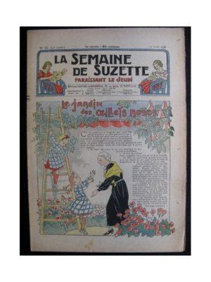 La Semaine de Suzette 34e année n°21 (1938) – Le jardin des œillets de roses (Bleuette)