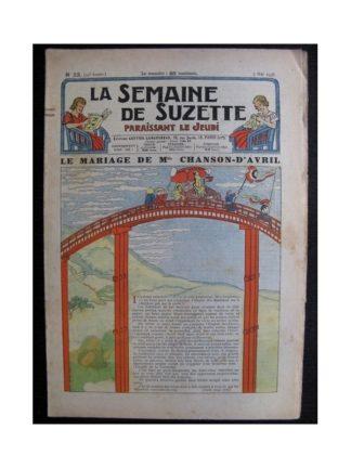 La Semaine de Suzette 34e année n°23 (1938) - Le mariage de Mlle Chanson-d'Avril