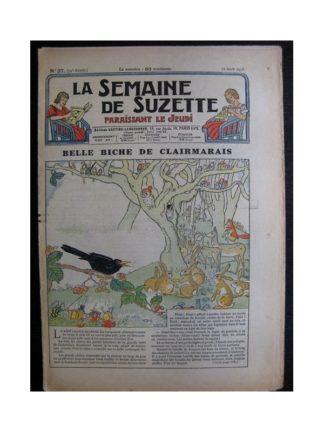 La Semaine de Suzette 34e année n°37 (1938) - Belle biche de Clairmarais