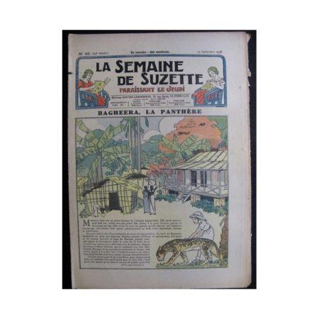 La Semaine de Suzette 34e année n°42 (1938) - Bagheera la panthère