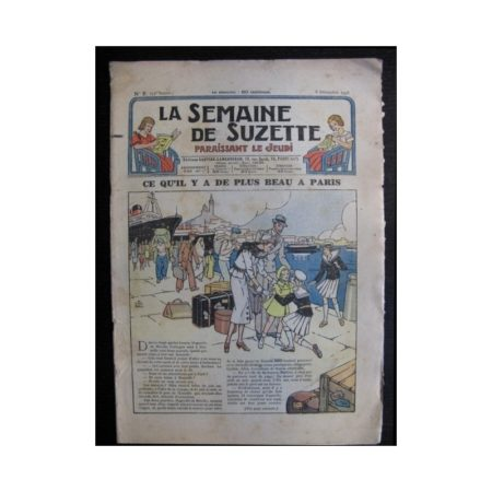La Semaine de Suzette 35e année n°2 (1938) - Ce qu'il y a de plus beau à Paris