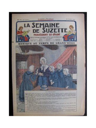 La Semaine de Suzette 35e année n°12 (1939) - Monique au temps de grand-mère