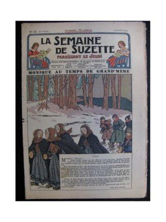 La Semaine de Suzette 35e année n°13 (1939) - Monique au temps de grand-mère (Bleuette)