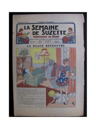La Semaine de Suzette 35e année n°20 (1939) - La bague retrouvée