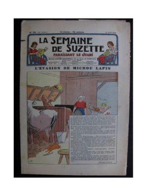La Semaine de Suzette 35e année n°38 (1939) - L'évasion de Michou Lapin