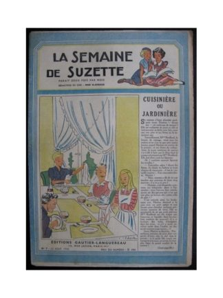 La Semaine de Suzette 37e année n°7 (1946) Cuisinière ou jardinière