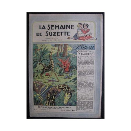 La Semaine de Suzette 37e année n°17 (1946) La girafe qui avait mal à la gorge