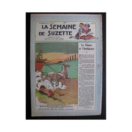La Semaine de Suzette 38e année n°9 (1947) La chance et l'intelligence (Bleuette)