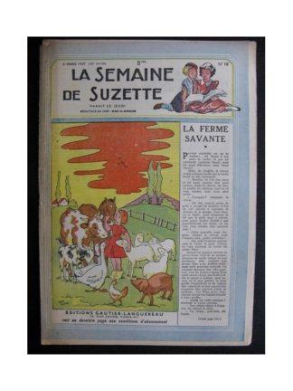 La Semaine de Suzette 38e année n°10 (1947) La ferme savante